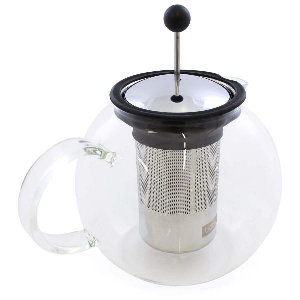 Glaskrug mit Edelstahlfilter 1.5l