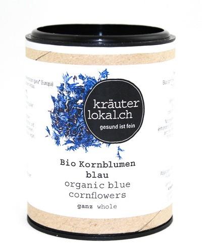 Bio Kornblumenblüten blau ganz